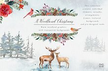 A Woodland Christmas - Graphic set
