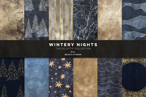 Wintery Nights: Golden Fairy Lights