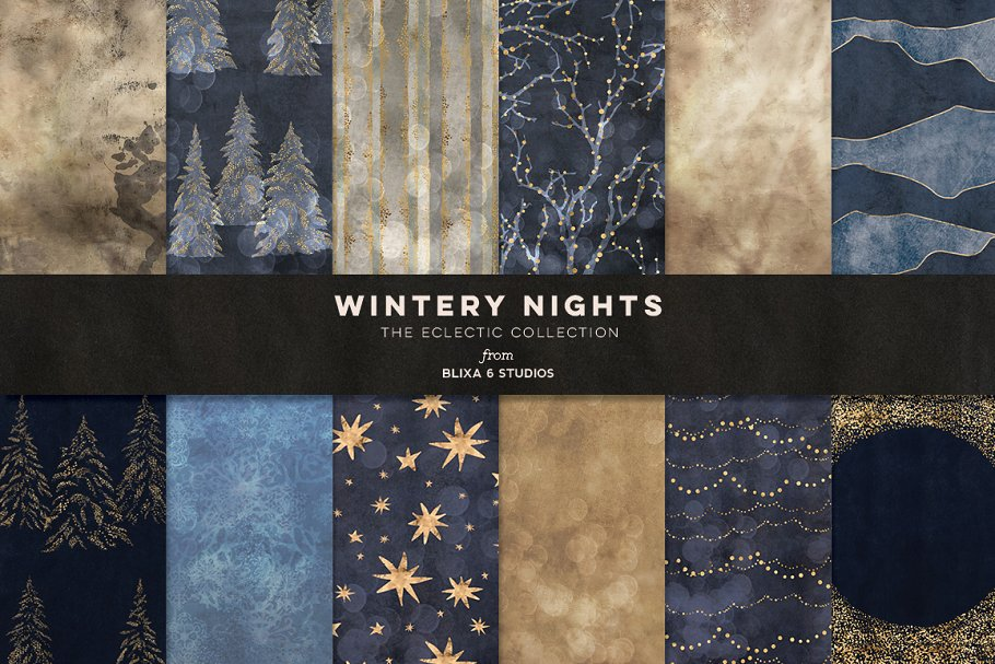 Wintery Nights: Golden Fairy Lights