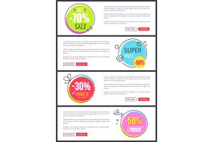 -70% Big Sale and Super Price Vector