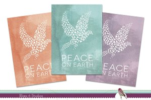 Watercolor Dove Holiday Note Cards
