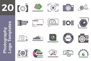20 Logo Photography Templates Bundle