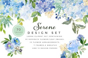 Serene - Flower Clipart Set