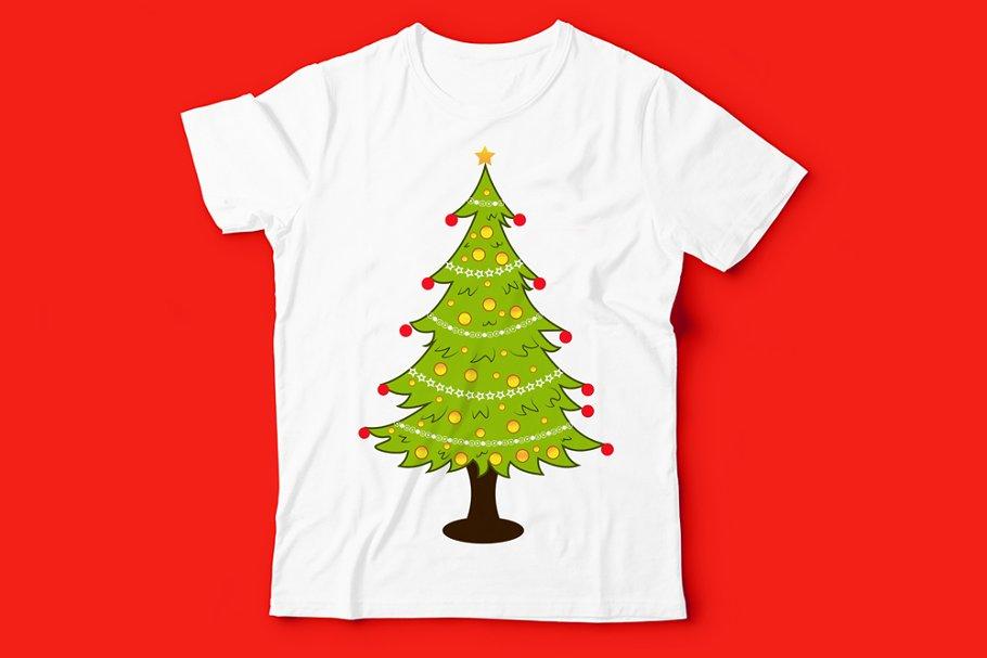 T Shirt Christmas Tree Design Art