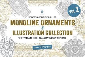 Monoline Ornaments Bundle Vol.2