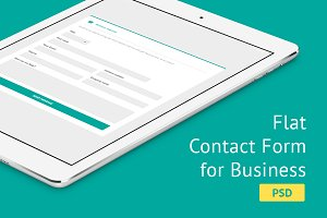 Flat Contact Form for Business - PSD