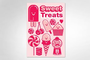 dessert/ sweet treats vector