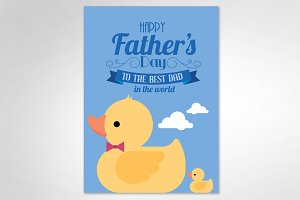 dad's day card/ducky vector