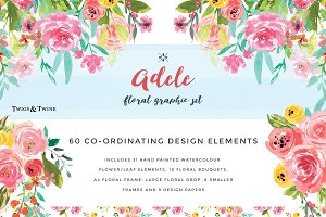 Adele Watercolour Flower Design Set