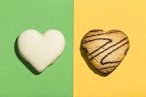 Chocolate cookies with heart shape o