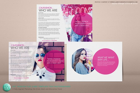 5x7 postcard mailing template - fashion marketing flat card 5x7 flyer templates on