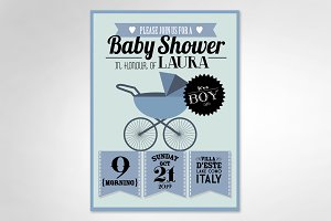 baby shower/ boy template
