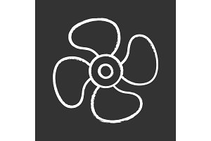Air ventilation chalk icon
