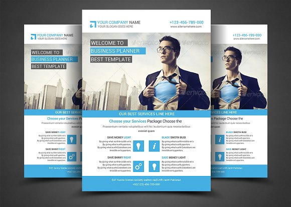Corporate business flyer template flyer templates creative market flashek Image collections