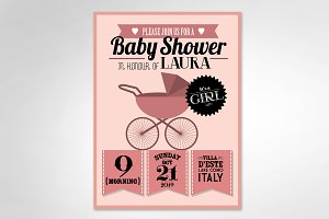 baby shower-girl template