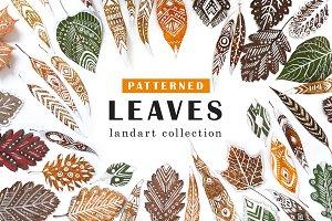 Patterned Leaves- Landart collection