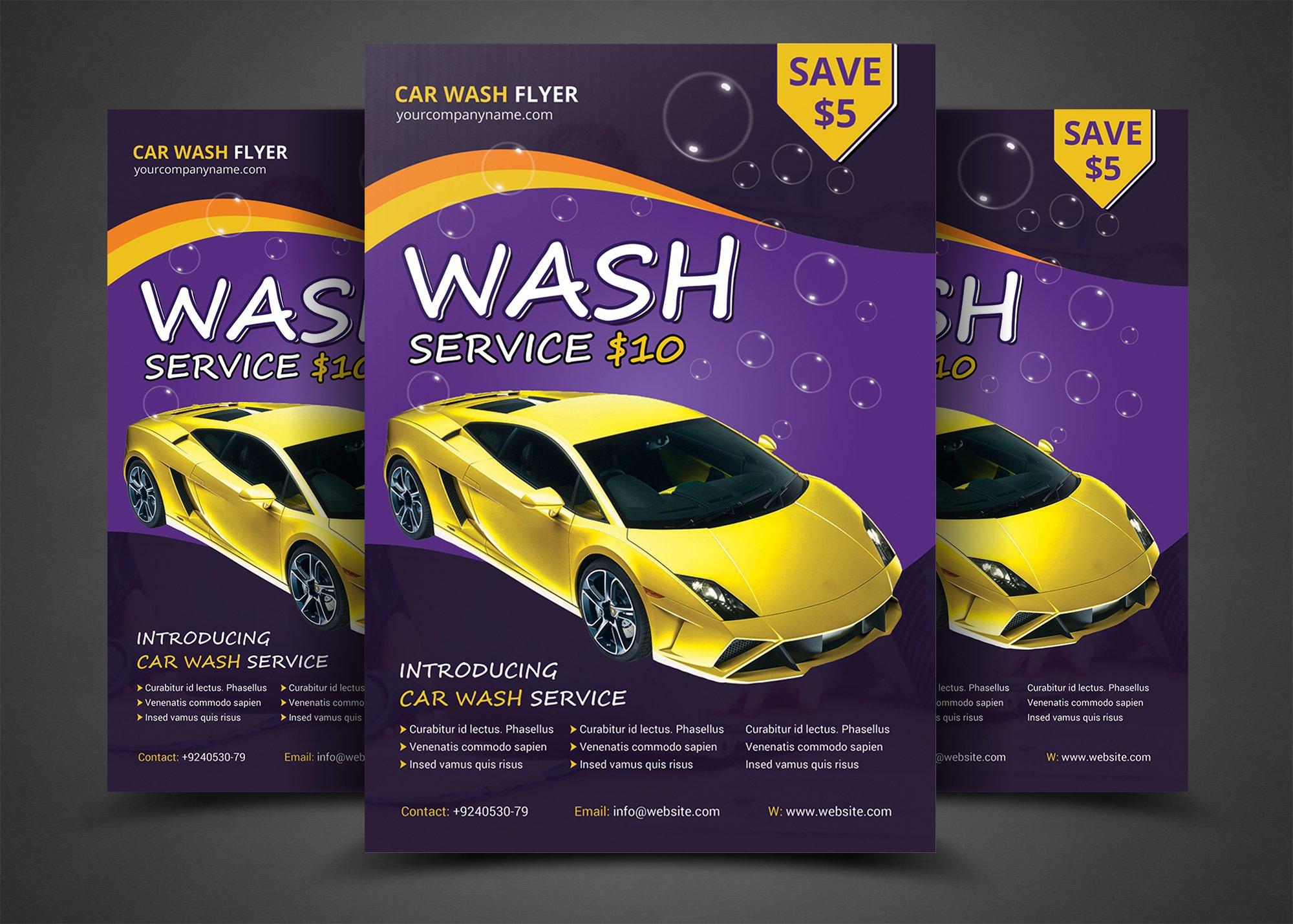 Car Wash Flyer Templates Flyer Templates on Creative Market – Car Flyers