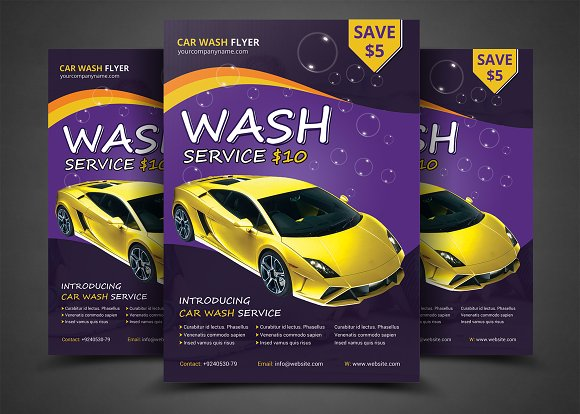 Car Wash Flyer Templates Flyer Templates on Creative Market – Car Wash Flyer Template