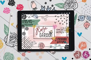 Rose Garden Stamps | Procreate