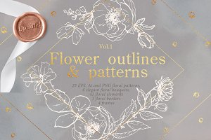 Flower outlines & patterns