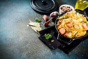 Bigos, stewed vegetables