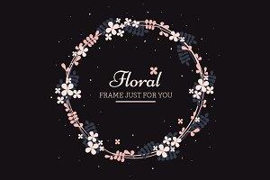 Floral frame spring design