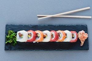 Sushi ready for food I