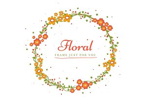 Colorful Foral Frame spring design v