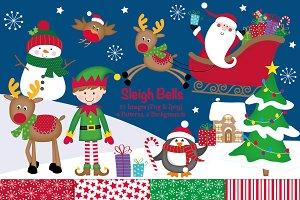 Santa's Christmas Sleigh Clipart