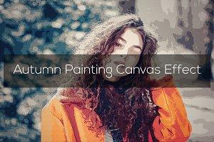 Autumn Painting Canvas Effect
