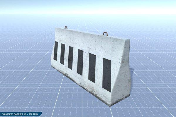3D Urban: 3DCaster - Concrete Barrier #13