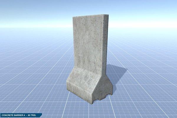 3D Urban: 3DCaster - Concrete Barrier #4