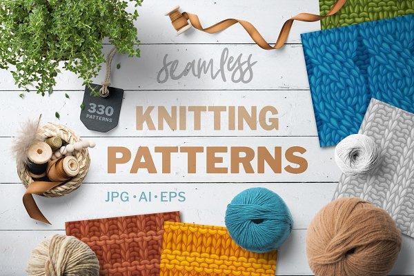 Knitting Seamless Vector Patterns