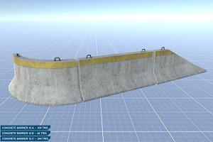 Concrete Barriers #12 Set