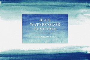 Blue Watercolor Textures