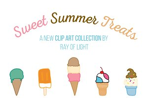 Sweet Summer Treats Clip Art