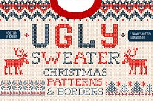 Christmas seamless knitted patterns  by  in Patterns