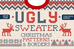 Christmas seamless knitted patterns
