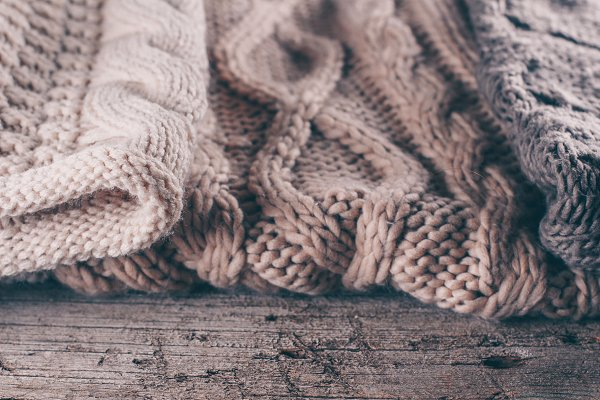 Beauty & Fashion Stock Photos: Anikona - Three knit sweaters