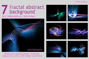 PACK abstract fractal backgrounds