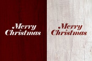 Merry Christmas Distressed Lettering