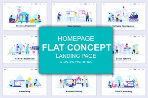 Flat Landing Page Templates