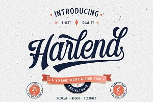 Harlend (6 font with bonus) intro