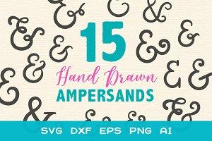 15 Beautiful Hand Drawn Ampersands