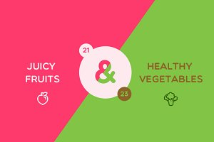 Juicy Fruits & Vegetables Icons