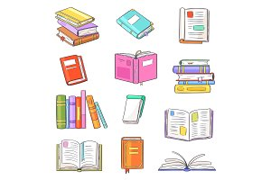 Books vector opened diary story-book