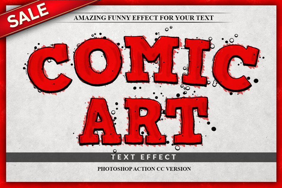 comic book text effect photoshop action  - 30+ funny add ons to photos