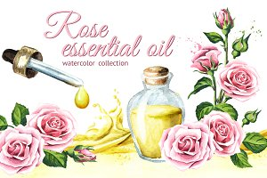 Rose. Essential oil