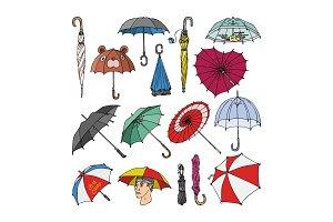 Umbrella vector umbrella-shaped