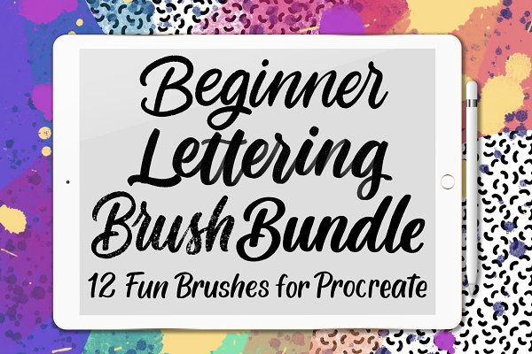 Add-Ons - 12 Beginner Lettering Brushes